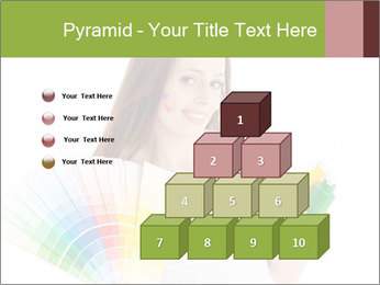 Woman Holding Color Guide PowerPoint Template - Slide 31