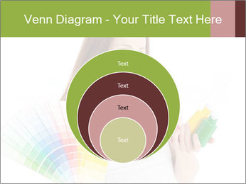 Woman Holding Color Guide PowerPoint Template - Slide 34