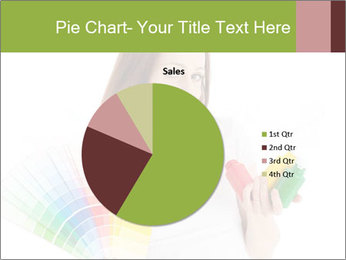 Woman Holding Color Guide PowerPoint Template - Slide 36