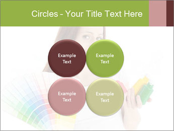 Woman Holding Color Guide PowerPoint Template - Slide 38