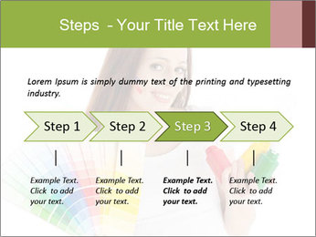 Woman Holding Color Guide PowerPoint Template - Slide 4