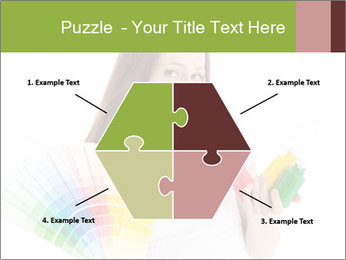 Woman Holding Color Guide PowerPoint Template - Slide 40