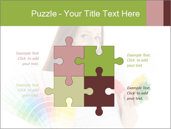 Woman Holding Color Guide PowerPoint Template - Slide 43