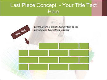 Woman Holding Color Guide PowerPoint Template - Slide 46