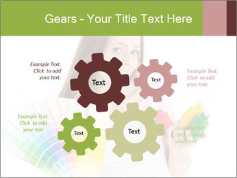 Woman Holding Color Guide PowerPoint Template - Slide 47