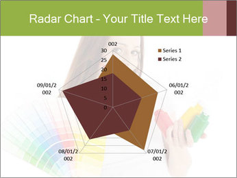 Woman Holding Color Guide PowerPoint Template - Slide 51