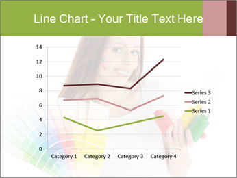 Woman Holding Color Guide PowerPoint Template - Slide 54