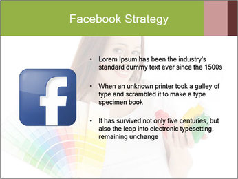Woman Holding Color Guide PowerPoint Template - Slide 6