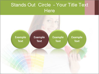 Woman Holding Color Guide PowerPoint Template - Slide 76