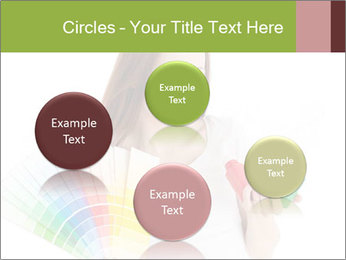 Woman Holding Color Guide PowerPoint Template - Slide 77
