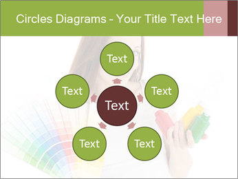 Woman Holding Color Guide PowerPoint Template - Slide 78