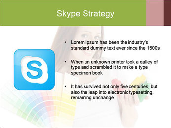 Woman Holding Color Guide PowerPoint Template - Slide 8