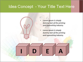 Woman Holding Color Guide PowerPoint Template - Slide 80