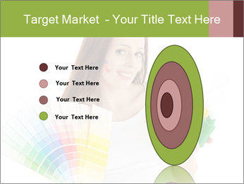 Woman Holding Color Guide PowerPoint Template - Slide 84
