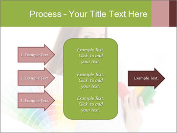 Woman Holding Color Guide PowerPoint Template - Slide 85