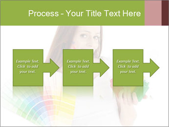Woman Holding Color Guide PowerPoint Template - Slide 88