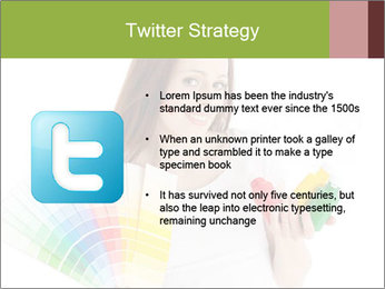 Woman Holding Color Guide PowerPoint Template - Slide 9