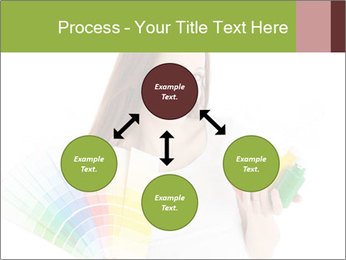 Woman Holding Color Guide PowerPoint Template - Slide 91