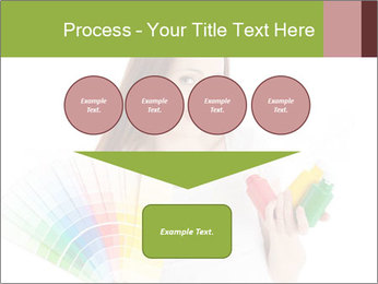 Woman Holding Color Guide PowerPoint Template - Slide 93