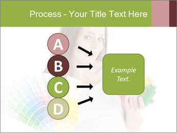 Woman Holding Color Guide PowerPoint Template - Slide 94