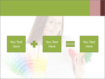 Woman Holding Color Guide PowerPoint Template - Slide 95