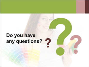 Woman Holding Color Guide PowerPoint Template - Slide 96