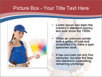 Painter Holding Color Guide PowerPoint Templates - Slide 13