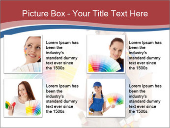 Painter Holding Color Guide PowerPoint Templates - Slide 14