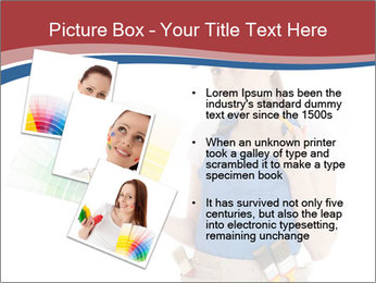 Painter Holding Color Guide PowerPoint Templates - Slide 17