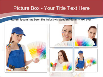 Painter Holding Color Guide PowerPoint Templates - Slide 19