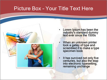 Painter Holding Color Guide PowerPoint Templates - Slide 20