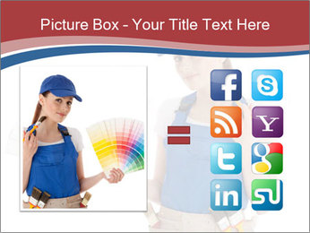 Painter Holding Color Guide PowerPoint Templates - Slide 21