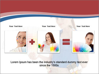 Painter Holding Color Guide PowerPoint Templates - Slide 22