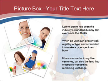 Painter Holding Color Guide PowerPoint Templates - Slide 23