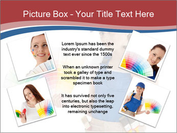 Painter Holding Color Guide PowerPoint Templates - Slide 24