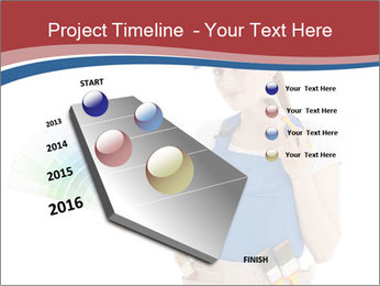 Painter Holding Color Guide PowerPoint Templates - Slide 26