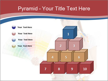 Painter Holding Color Guide PowerPoint Templates - Slide 31