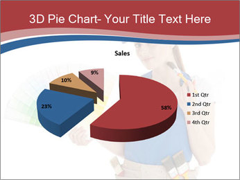 Painter Holding Color Guide PowerPoint Templates - Slide 35