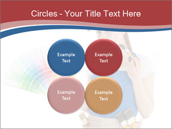 Painter Holding Color Guide PowerPoint Templates - Slide 38