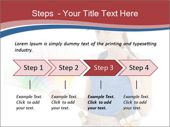 Painter Holding Color Guide PowerPoint Templates - Slide 4