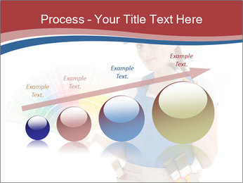 Painter Holding Color Guide PowerPoint Templates - Slide 87