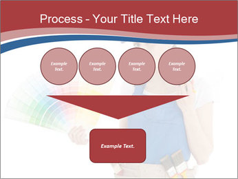 Painter Holding Color Guide PowerPoint Templates - Slide 93