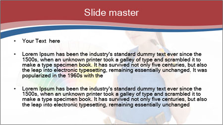 Painter Holding Color Guide PowerPoint Template - Slide 2