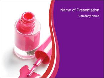 Bright Nail Polish PowerPoint Templates - Slide 1