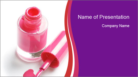 Bright Nail Polish PowerPoint Template