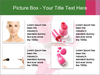 Open Bottle of Pink Nail Polish PowerPoint Template - Slide 14