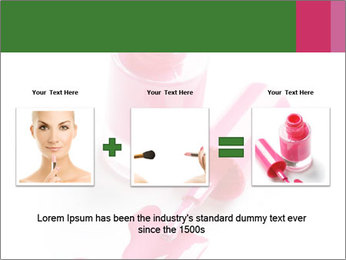 Open Bottle of Pink Nail Polish PowerPoint Template - Slide 22