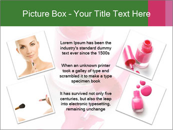 Open Bottle of Pink Nail Polish PowerPoint Template - Slide 24