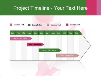 Open Bottle of Pink Nail Polish PowerPoint Template - Slide 25