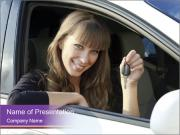 Woman Holding Car Keys PowerPoint Templates